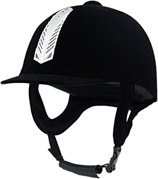 Amazon Com Unistrengh Velveteen Equestrian Helmets Comfortable Velvet Horse Riding Hat Horse Riding Helmets Lightweight Black Unisex Sports Outdoors