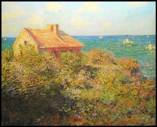 "Claude Monet's FISHERMAN'S COTTAGE 18"" X 24"" Fine Art Jigsaw Puzzle (over 500 pcs)"