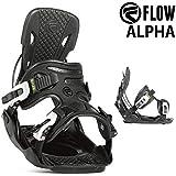 18-19 FLOW/フロー ALPHA アルファ メンズ レディース ビンディング バインディング スノーボード 2019 L(25.5~29.5cm) BLACK