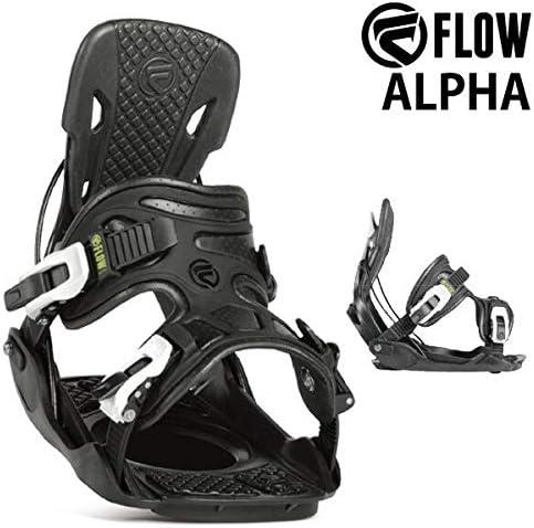 18-19 FLOW/フロー ALPHA アルファ メンズ レディース ビンディング バインディング スノーボード 2019 M(22.5~26.5cm) 黒