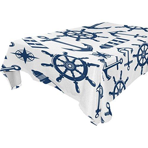 ALIREA Rectangle Marine Nautical Pattern With Blue Items Tab