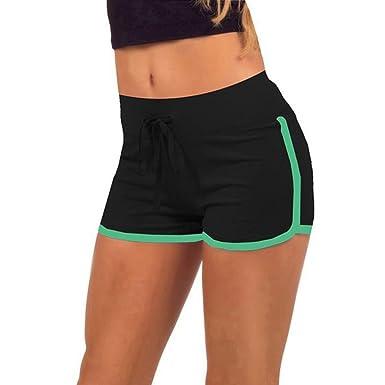 Short de Sport Femmes Casual, Pantalons d été Femmes Coton Sport Shorts Gym  Workout e50b38c02c4e
