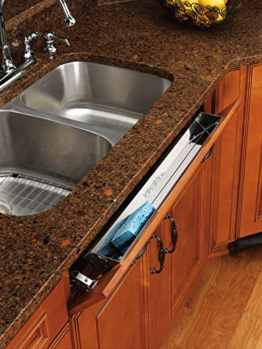 (Rev-A-Shelf - 6541-28-52 - 28 in. Stainless Tip Out Sink Front Tray)