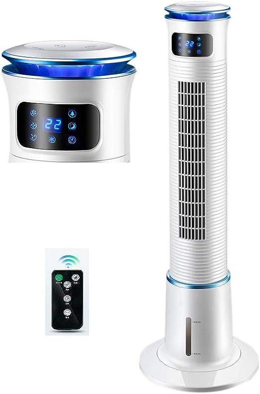 FirnFose 50W Potencia Torre eléctrica Ventilador de Agua Niebla de Agua Ventilador con Temporizador Ventilador de enfriamiento de Aire sin aspas Enfriador de Aire 5L Tanque: Amazon.es: Hogar