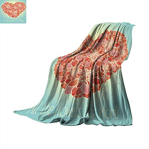 - Bed Cover Floral Heart Made with Flowers of Dahlia Throw Blanket 90