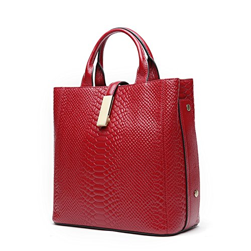 Dissa Multiple Women Bag Leather Soft Shoulder Red Pockets Q0875 Handbags TrvAx1wqT