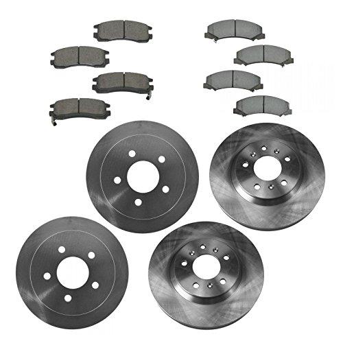 Chevy Rear Rotors (Brake Pad & Rotor Kit Ceramic Front & Rear for Chevy Impala Monte Carlo)