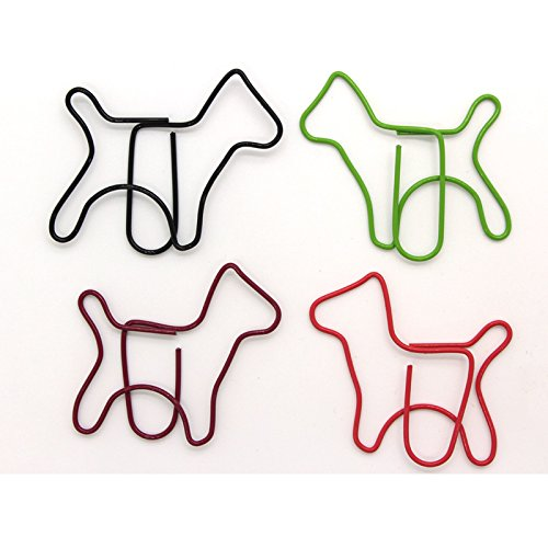 Animals Dog Series Creative Cute Kawaii Paper Clips Bookmark Memo Clip For Office School Supplies Stationery 50Pc (Rubber Ribbed Grip Pen)