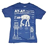 Star Wars AT-AT Blueprint Licensed Graphic T-Shirt - Large
