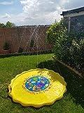 Kids Water Spray Pool Toy, PVC Sprinkler Cushion for Summer Fun Beach Outdoor