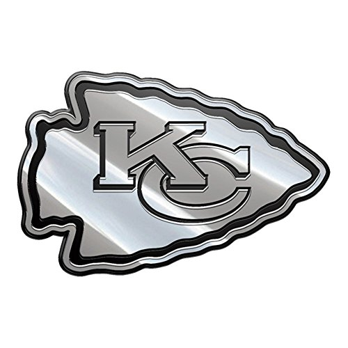 Kansas City Chiefs NFL Licensed Premium Metal Auto Emblem (Metal Chief)