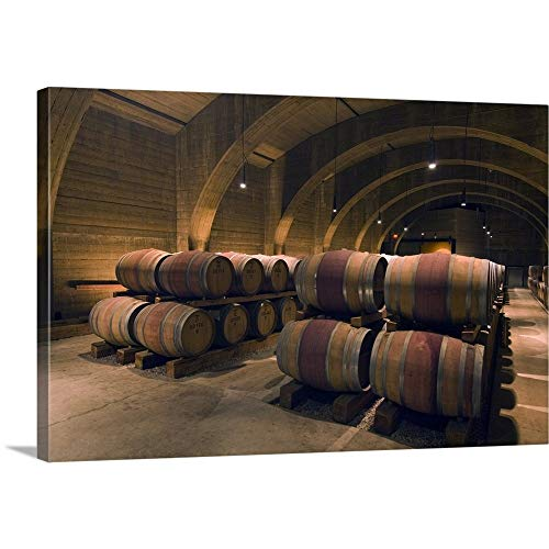 Gallery-Wrapped Canvas Entitled British Columbia, Okanagan Valley, Westbank, Mission Hill Estate Winery Wine Cellar by Rob Tilley 36