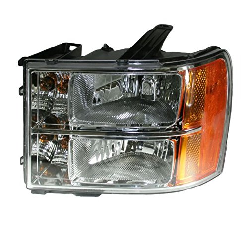 Gmc Sierra Pickup Truck Headlight - Headlight Headlamp Left Hand LH Driver Side for 07-13 GMC Sierra Pickup Truck