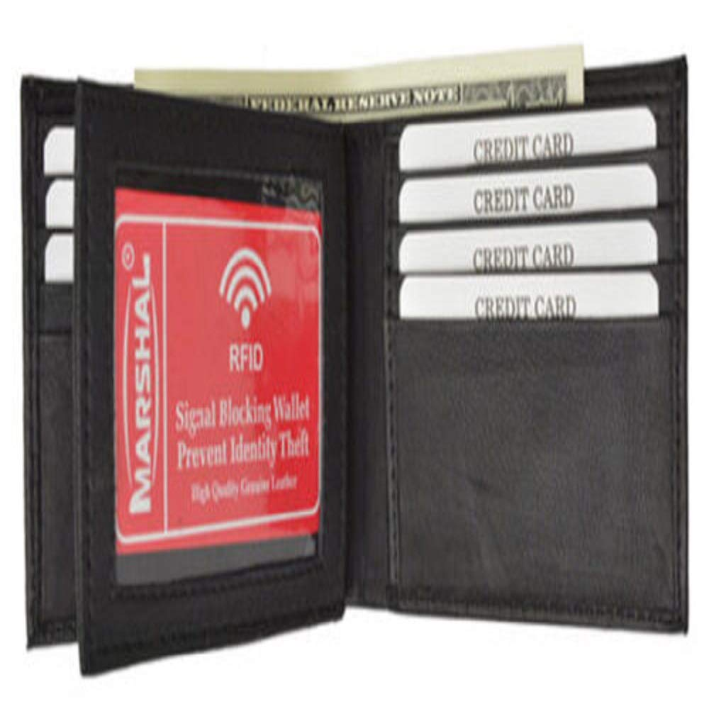 Smooth Leather Center Flap Wallet #LWTY