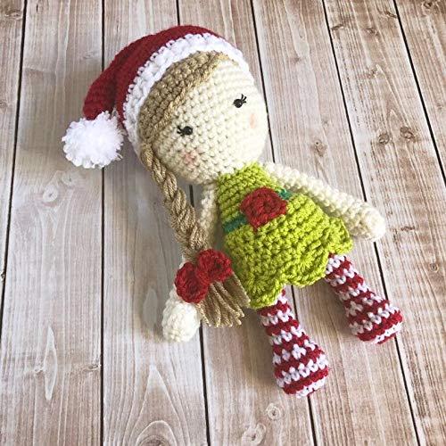 MADE TO ORDER Little Miss Elf Doll//Girl Elf Plush Doll//Elf Ragdoll// Christmas Doll//Stuffed Toy Doll// Soft Toy Doll// Amigurumi Doll//