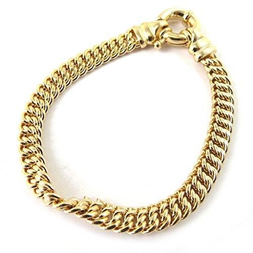 Altesse [M4951] - Bracelet Plaqué Or 'Maille Américaine' 19. 5 cm 7 mm