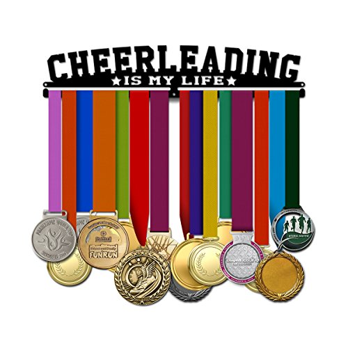 Believe&Train Cheerleading is My Life - Cheerleading Medal Hanger (Cheer Medal Hanger)