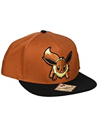 BIOWORLD 887439997497 Pokemon Eevee Brown Color Block Snapback Baseball Cap Hat