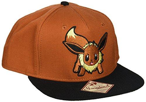 bioWorld Pokemon Eevee Brown Color Block Snapback Baseball Cap]()