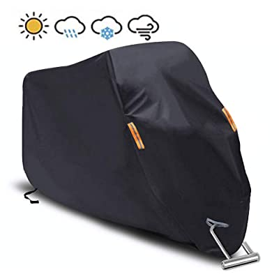 """Motorcycle Cover Waterproof/Dustproof/Snowproof/UV Protection Motorcycle Covers 5 Layer Breathable fabric with cotton fit for most types(""""102"""" L x""""41"""" W x""""49"""" H): Automotive"""