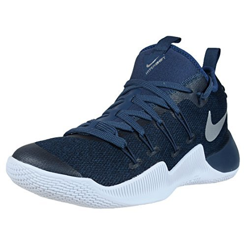 NIKE Mens Hypershift Basketball Shoes Squadron Blue/Metallic Silver (9.5)