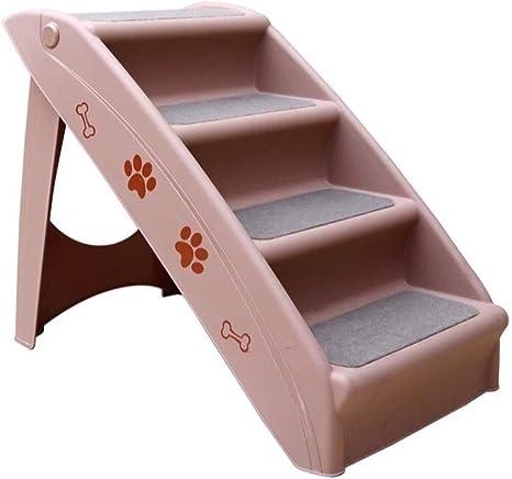 LLHYOO Escaleras para Mascotas de 4 Pasos, Escalera de Escalada para Perros Pasos de plástico Escalera de Escalada para Autos Escalera Plegable para Coches Antideslizante 38 * 50 * 76 cm Pet: Amazon.es: Productos para mascotas