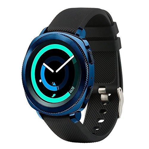 For Samsung Gear Sport Soft Silicone Sport Quick 20mm Smart Watch Bands Quick Release Watch Strap Wristband for Samsung Gear S2 Classic SM-R732 & SM-R735/ Huawei Watch 2 Watch/Garmin Vivoactive 3