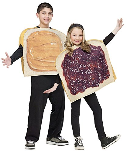 [Peanut Butter N Jelly Child Costumes] (Childrens Food Halloween Costumes)