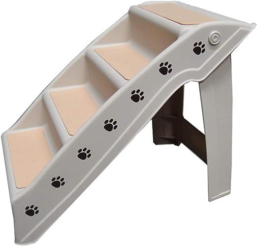 HH- Escaleras de Mascotas Escaleras para Mascotas Escalera para Perros Material para Mascotas Plegable 4 Pasos Muebles para Camas para Gatos: Amazon.es: Productos para mascotas