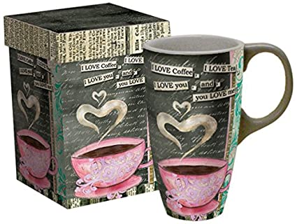 "3cd3d8cee1b Image Unavailable. Image not available for. Color: LANG - 18 oz. Ceramic Latte  Mug -""I Love ..."