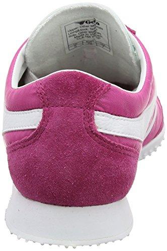 Fuchsia 7 M Wasp Women's White Sneaker Size Suede Gola Nylon 81twzT