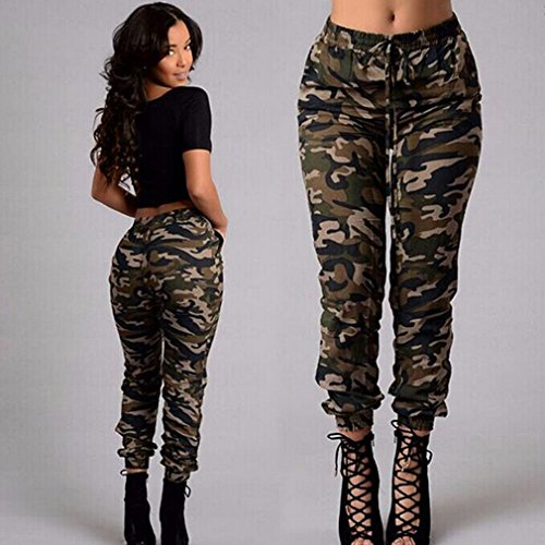 Iumer Women s Camouflage Trousers Slim Foot Trousers Army Camo Jeans  Stretch Slim Casual Cargo Pencil ( 5264df6bd18
