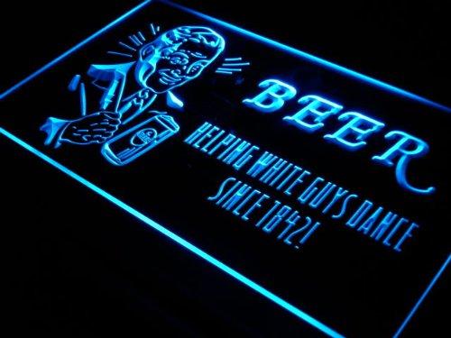 Beer Helping White Guys Dance Bar LED Sign Night Light j306-b(c)