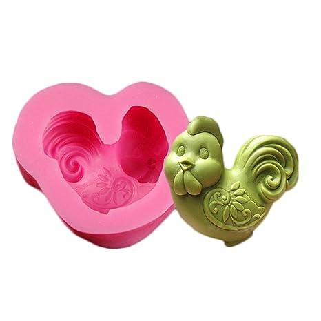 chige Candy Mold, 12 bandejas de horno de silicona símbolo chino – grado alimenticio y