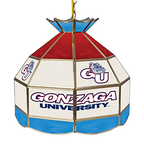 NCAA Gonzaga University Tiffany Gameroom Lamp, 16'' by Trademark Gameroom