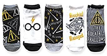 Harry Potter Juniors/Womens 5 Pack Ankle Socks Shoe Size 4-10