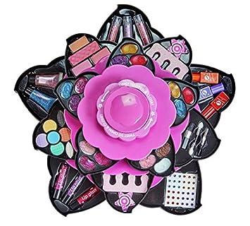 Amazon.com: TM. Flor colección de cosméticos, color rosa ...