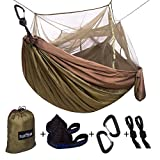 Single & Double Camping Hammock with Mosquito/Bug Net, 10ft Hammock...