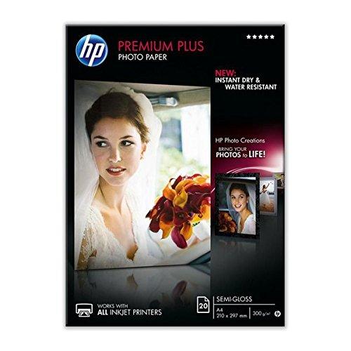 48 opinioni per HP CR673A Premium Carta Fotografica, Semi-Lucida, 300 G/Mq, Confezione da 20