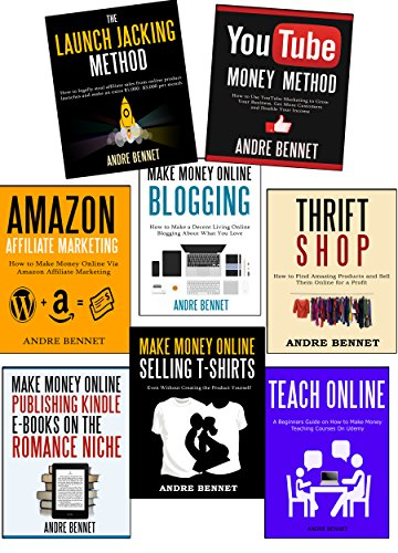 QUIT YOUR DAY JOB  (8 in 1 Start a Business Bundle): Youtube, Affiliate Marketing, Blogging, Thrift Shop, Amazon Associate, Kindle Publishing, Teach Online & Sell Tshirts