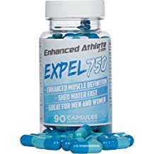 Enhanced Athlete Expel 750 - Maximum Strength Diuretic Supplement - Water Pills to Lose Weight and Reduce Water Retention - Natural Relief from Bloating and Swelling 90 Capsules