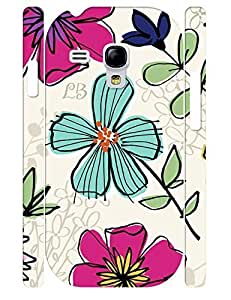 Creative Custom Colorful Flower Pattern Durable Phone Aegis Case for Samsung Galaxy S3 Mini I8200