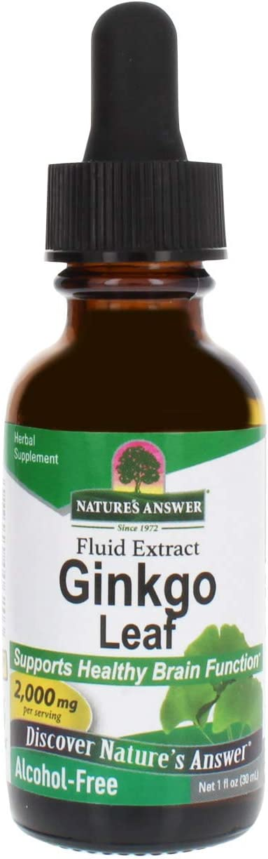Nature's Answer Ginkgo Leaf, 1-Ounce Ginkgo Biloba Extract: Health & Personal Care