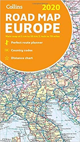 Collins 2020 Road Map Europe: Collins Maps: 9780008319762 ...
