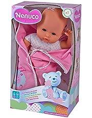 Nenuco - Muñeco recién nacido con sonidos (Famosa 700012123) , Modelos/colores Surtidos, 1 Unidad