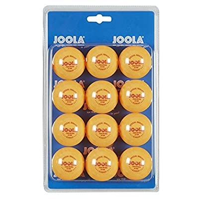 JOOLA 40mm 3-Star Table Tennis Training Balls (12 Count) - Orange