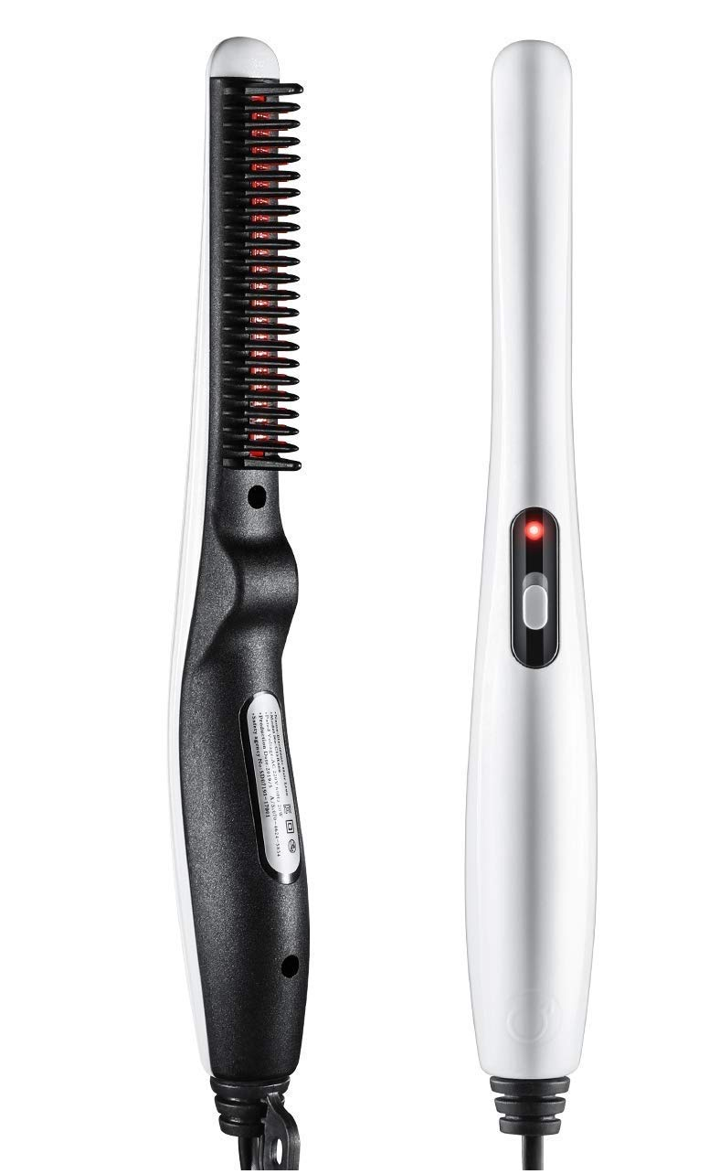 ADTALA Beard and Hair Straightening Brush Electric Comb for Men