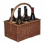 Double Steamed 6 Bottle Carrier Drinks Basket