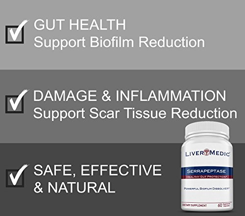 Best Natural Serrapeptase, Non-GMO, Vegan, Special Enteric Coating   80,000  IU Serrapeptase Enzyme Supplement - Healthy Gut Support   Premium High