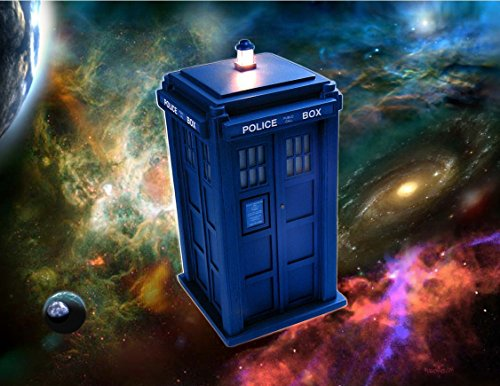 Doctor Who Tardis Personalized Birthday Edible Frosting Image 1/4 sheet Cake Topper -